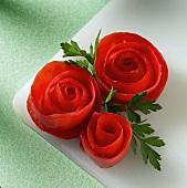 Tomato Roses Garnish