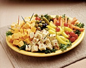 Cubed Cheese Platter Appetizer