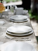 Place Settings on an Outdoor Table