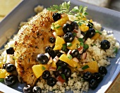 Chicken Breast with Couscous and Fruit Salsa