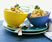 Two Bowls of Salmon Risotto