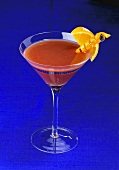 Grand Marnier, Red Wine and Orange Juice in a Martini Glass