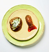 A Lobster Tail with a Baked Potato