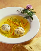Matzoh Ball Soup with Vegetables
