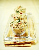 Quinoa with rosemary and red pepper