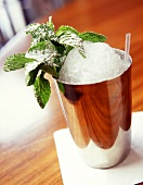 Mint julep in shaker