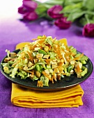 Cabbage salad with tofu and peanuts