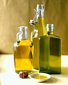 Three bottles of olive oil