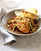 Moroccan style chicken breast with chick-peas