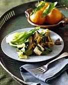 Bok Choy, Tofu and Mushroom Stir Fry
