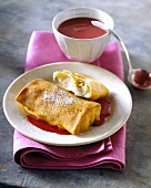 Cheese Blintzes (filled cheese pancakes for Shavuot, Israel)