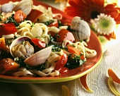Linguini with Clams and Vegetables