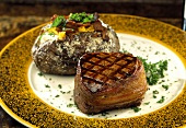 Filet Mignon with Baked Potato