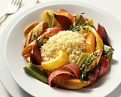 Couscous with Roasted Winter Vegetables