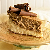 A Slice of Double Layer Hazelnut Cheesecake