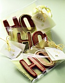 Ho ho ho gingerbread biscuits to give as a gift
