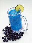 A Blueberry Margarita in a Glass Mug
