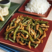 Spicy Pork with Green Beans and Rice