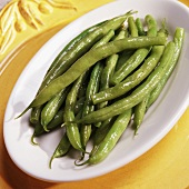 Buttered Green Beans in a Serving Dish