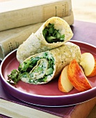 A Salad Wrap with Sliced Apples
