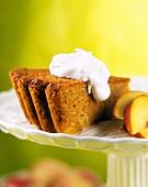 A Slice of Peach and Lemon Graham Cake