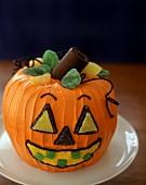 Jack o' Lantern cake for Halloween