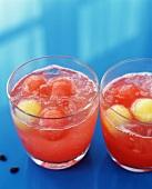 Two Melon Cocktails