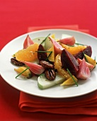 Beet Salad with Apples, Oranges and Pecans