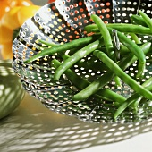 Green Beans in a Vegetable Steamer