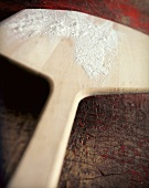 Floured Wooden Pizza Paddle