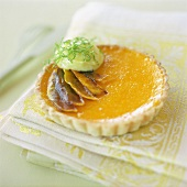 Lime and Mango Tart with Lime Curd and Broiled Mangoes