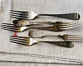Five different old forks