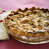 Rhubarb Pie in a Glass Dish