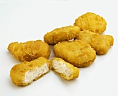 Chicken Nuggets on a White Background