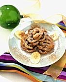 Bunuelos de Bananas (Banana Fritters with Powdered Sugar)