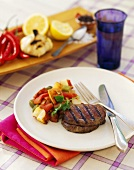 Grilled Beef Tenderloin with Mixed Vegetables