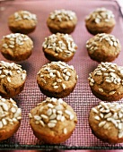 Muffins with sunflower seeds