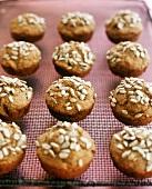 Minibrötchen aus der Muffinform mit Sonnenblumenkernen