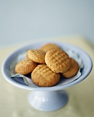 Peanut biscuits in blue bowl