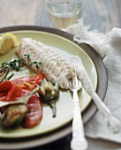 Haddock Fillet with Roasted Vegetables and Thyme