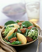 Mixed Green Salad with Grapefruit Segments and Pecans