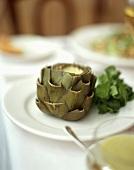 Artichoke with sauce