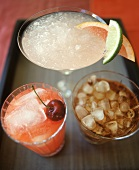 Assorted Cocktails: Cherry, Rum and Coke and Margarita