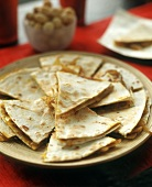 Cheese and onion quesadillas