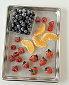Frozen Fruits on a Tray