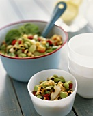 Vegetable salad with grilled vegetables
