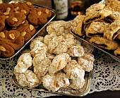 Spicchiteddi, Fior di Mandorla & Cuccidatti (Italian biscuits)