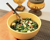 Chard soup with French beans and courgettes