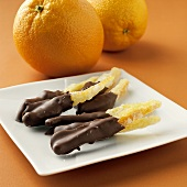Chocolate-coated candied orange peel