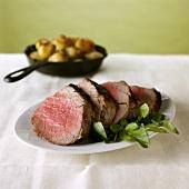 Beef fillet, sliced